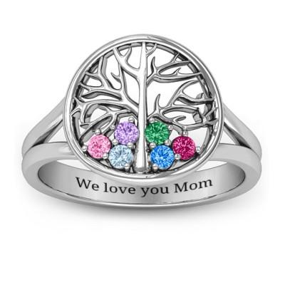 Always Around Love 6 Stone Family Tree Ring - The Name Jewellery™