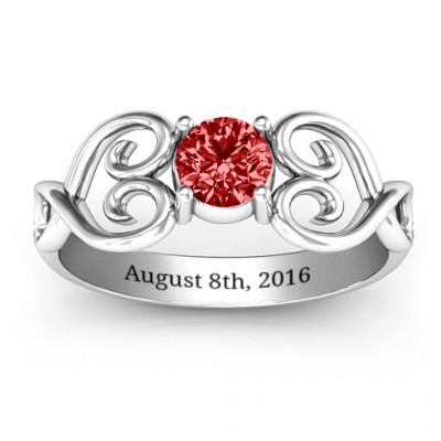 Always In My Heart Promise Ring - The Name Jewellery™