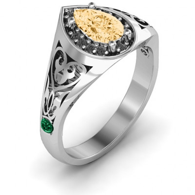 Aphrodite Ring with Side Gems - The Name Jewellery™