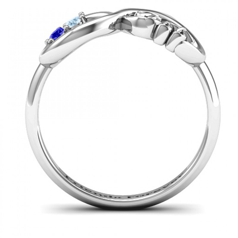 278f83c9e90aa1 ... BFF Friendship Infinity Ring with 2 - 7 Stones - The Name Jewellery™ ...