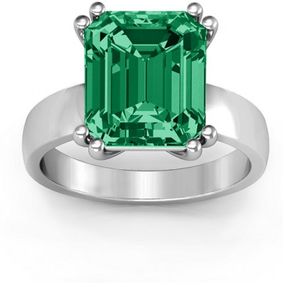 Basket Set Emerald Cut Ring - The Name Jewellery™