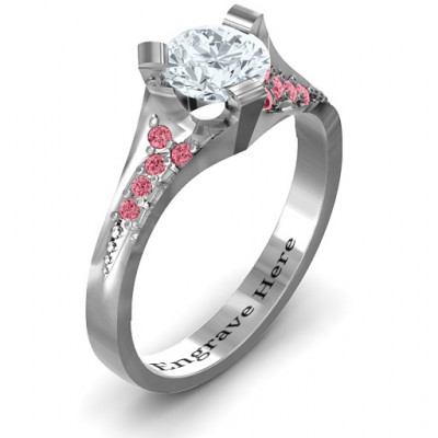 Beloved Tri-Set Ring with Accents - The Name Jewellery™