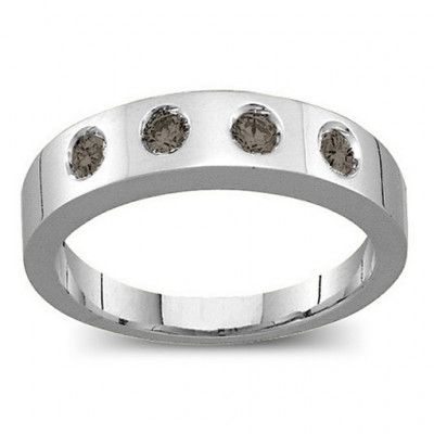 Belt Ring with 2-6 Round Stones - The Name Jewellery™