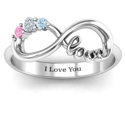 Birthstone Infinity Love Ring - The Name Jewellery™