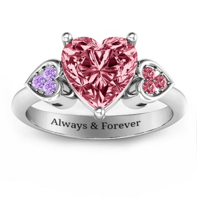 Brilliant Love Accented Heart Ring - The Name Jewellery™