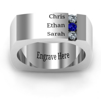 Cache Square-shaped Gemstone Men's Ring - The Name Jewellery™