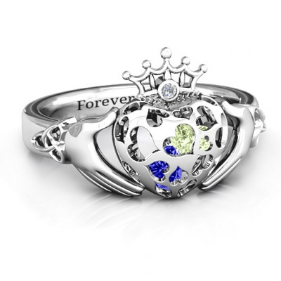 Caged Hearts Claddagh Ring - The Name Jewellery™