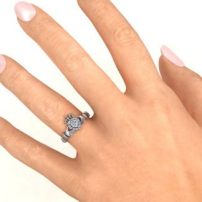 Claddagh with Halo Ring - The Name Jewellery™