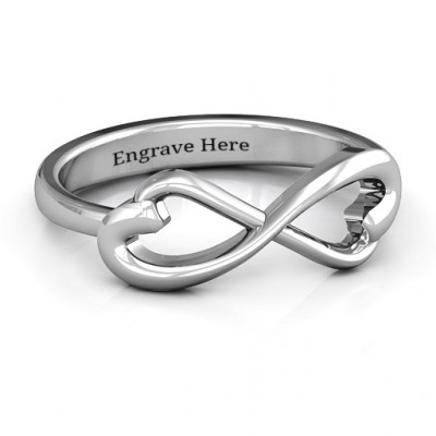 Classic Hearts Infinity Ring - The Name Jewellery™