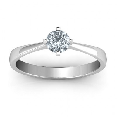 Classic Round Solitaire Ring - The Name Jewellery™