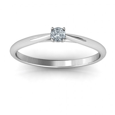 Classic Solitare Sparkle Ring - The Name Jewellery™