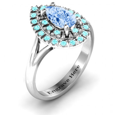 Cleopatra Double Halo Ring - The Name Jewellery™
