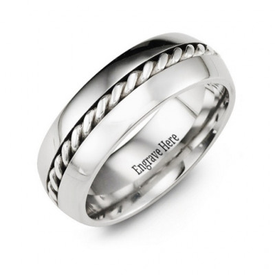 Cobalt Rope Ring - The Name Jewellery™