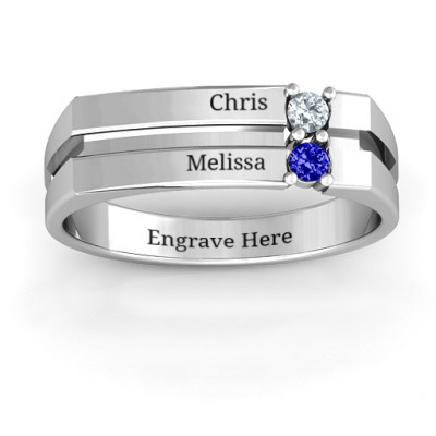 Crevice Grooved Women's Ring - The Name Jewellery™