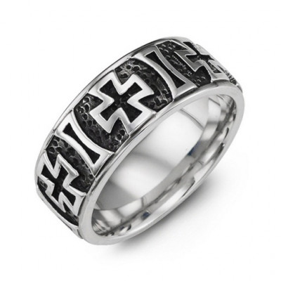 Cross Pattern Cobalt Ring - The Name Jewellery™