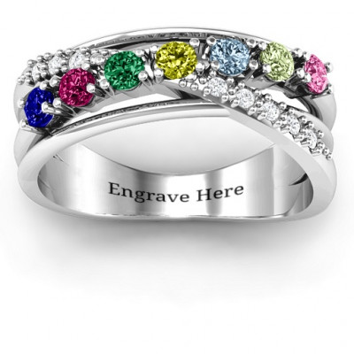 Crossover Accent Multi Band Ring - The Name Jewellery™