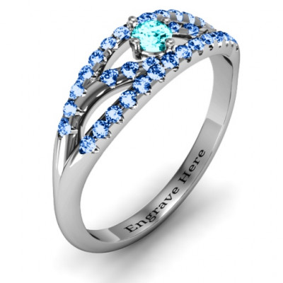 Crown Accent Ring - The Name Jewellery™