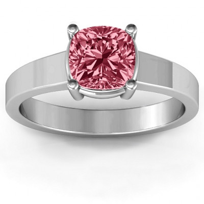 Cushion Cut Solitaire Ring - The Name Jewellery™