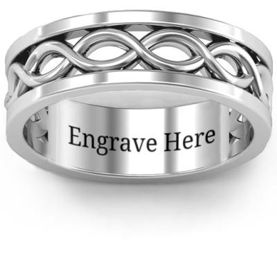 Diadem Infinity Men's Ring - The Name Jewellery™