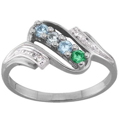 Diamond Accent 2-6 Stones Ring - The Name Jewellery™