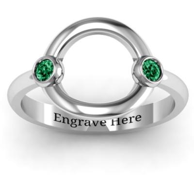 Double Stone Karma Ring - The Name Jewellery™