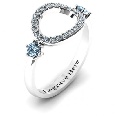 Double stone Karma Ring with Accents - The Name Jewellery™