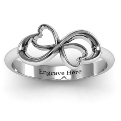 Duo of Hearts Infinity Ring - The Name Jewellery™