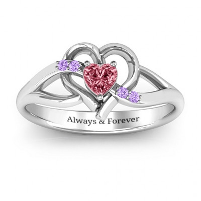 Endless Romance Engravable Heart Ring - The Name Jewellery™