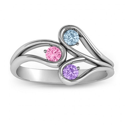 Eternal Elegance Three-Stone Ring - The Name Jewellery™