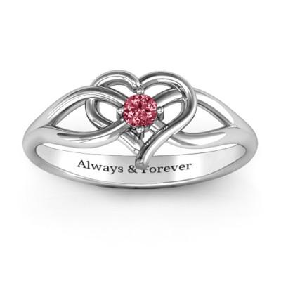 Everlasting Elegance Interwoven Heart Ring - The Name Jewellery™