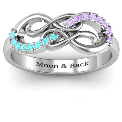 Everlasting Infinity Ring with Gemstones - The Name Jewellery™