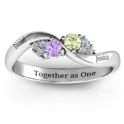 Everyday Dream Ring With Shoulder Accents - The Name Jewellery™