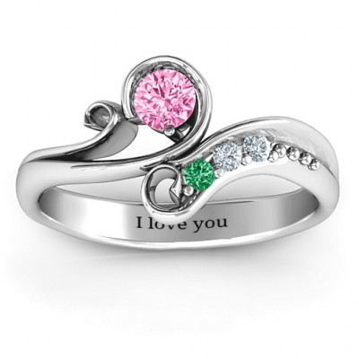 Family Flair Ring With 2-6 Birthstones - The Name Jewellery™