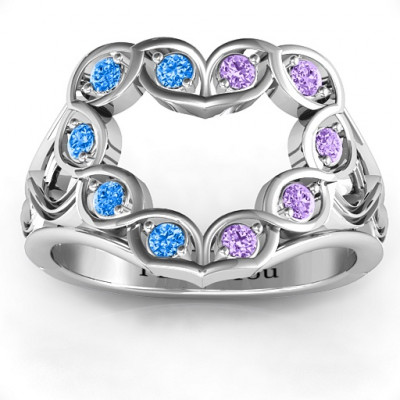 Floating Heart Infinity Ring - The Name Jewellery™
