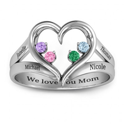 Forever In My Heart Birthstone Ring - The Name Jewellery™