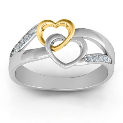 Forever Linked Hearts Ring - The Name Jewellery™