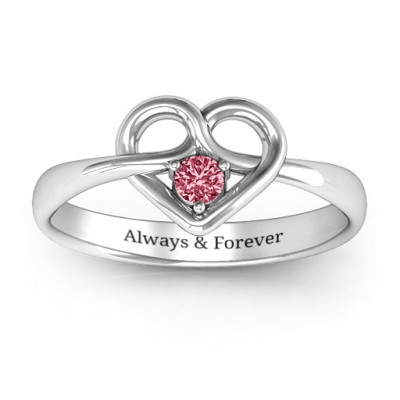 Forget Me Knot Heart Infinity Ring - The Name Jewellery™