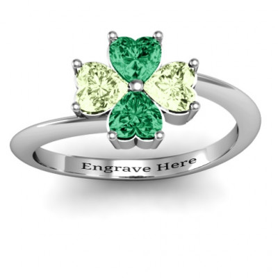 Four Heart Clover Ring - The Name Jewellery™