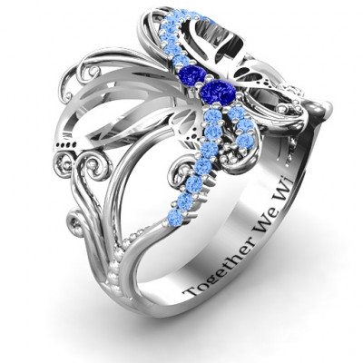 Glimmering Butterfly Ring - The Name Jewellery™