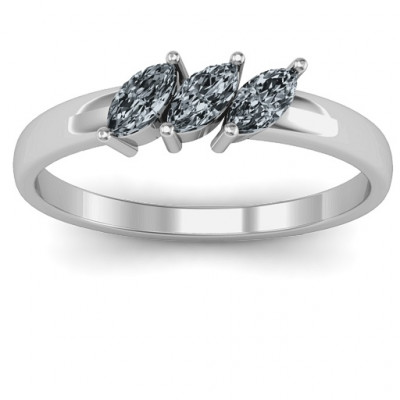 Grand Marquise Trio Ring - The Name Jewellery™