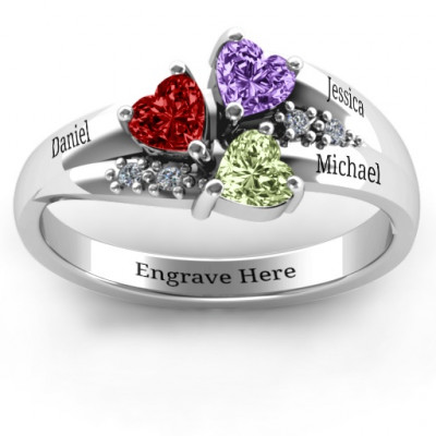 Heart Cluster Ring with Accents - The Name Jewellery™