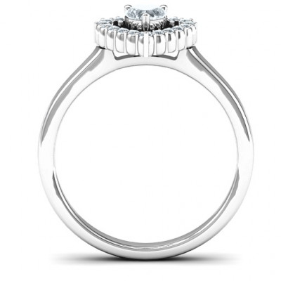 Heart in Heart Halo Ring - The Name Jewellery™