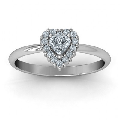Heart with Halo Promise Ring - The Name Jewellery™