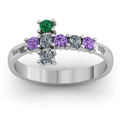 I Believe' Side Cross Ring - The Name Jewellery™