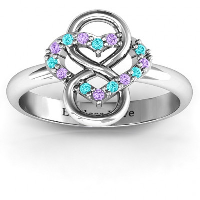Infinite Love with Stones Rings - The Name Jewellery™