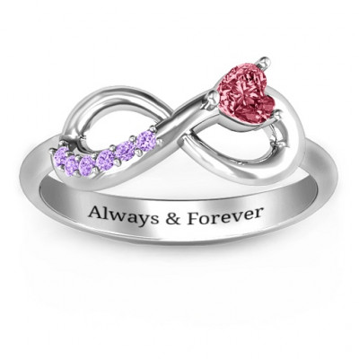 Infinity In Love Ring with Accents - The Name Jewellery™