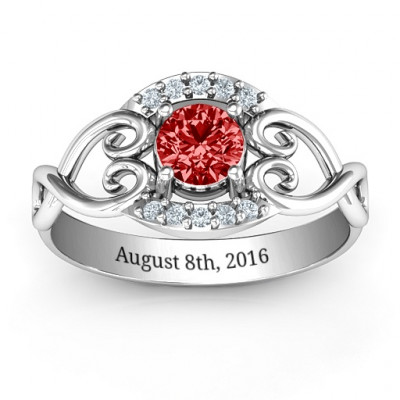 Lasting Love Promise Ring with Accents - The Name Jewellery™