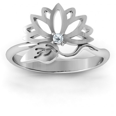 Leaves and Lotus Wrap Ring - The Name Jewellery™