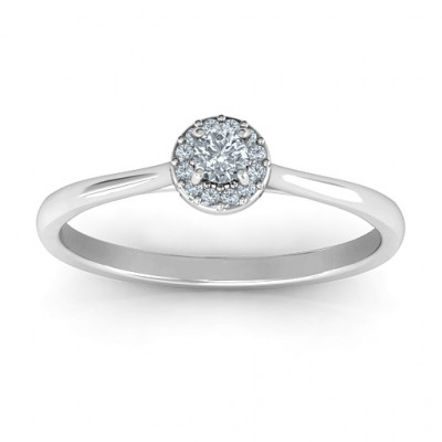 Little Luxury Halo Ring - The Name Jewellery™