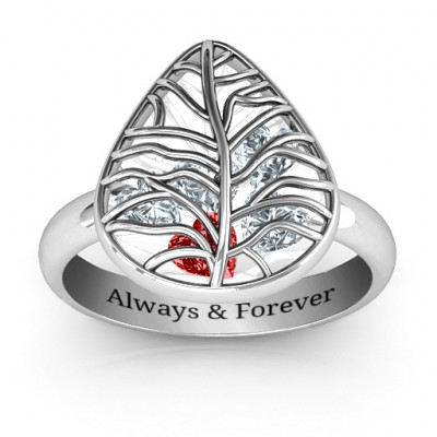 Lovely Lilac Cage Leaf Ring - The Name Jewellery™